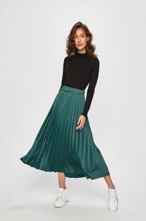 Jessica Wright Plisowana zielona spódnica midi Ceny i