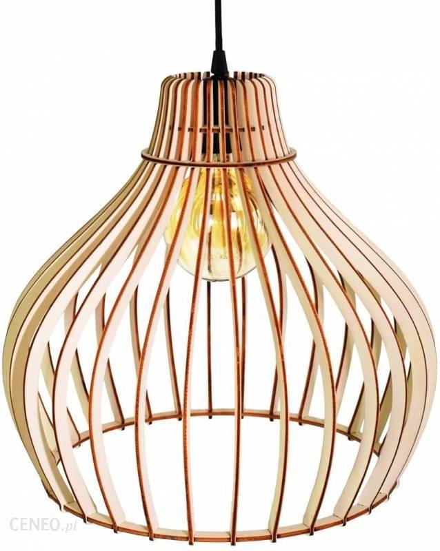 Vipkob Drewniana Lampa Sufitowa Wisząca Ze Sklejki Loft ø38cm Barrel380
