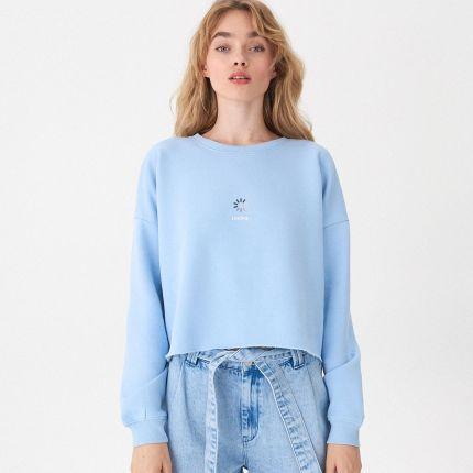 6c4a837a9bade3 Reserved - Rozpinana bluza z naszywkami yfl - Szary - damska - Ceny ...