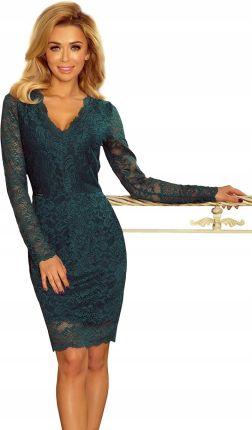 f438fb128 Seksowna sukienka Z Dekoltem Zielona S Allegro