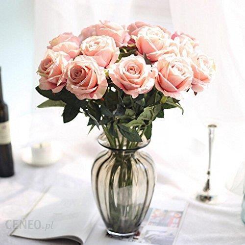Amazon Longra Akcesoria Do Mieszkania I Dekoracyjne Sztuczne Kwiaty 5 Sztuk Bukiet Róż ślubny Dekoracja Domu Na Imprezę