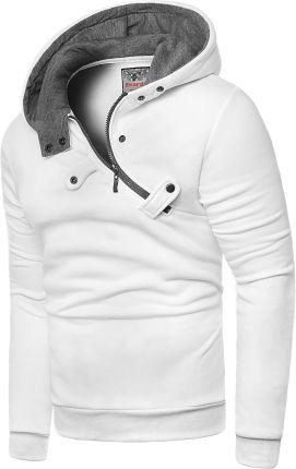 44b8fa72566869 Risardi Męska bluza z kapturem rdi 2020 - biała