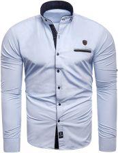 76c36d850a13dd Risardi Koszula męska długi rękaw rl08 - błękitny - Ceny i opinie ...