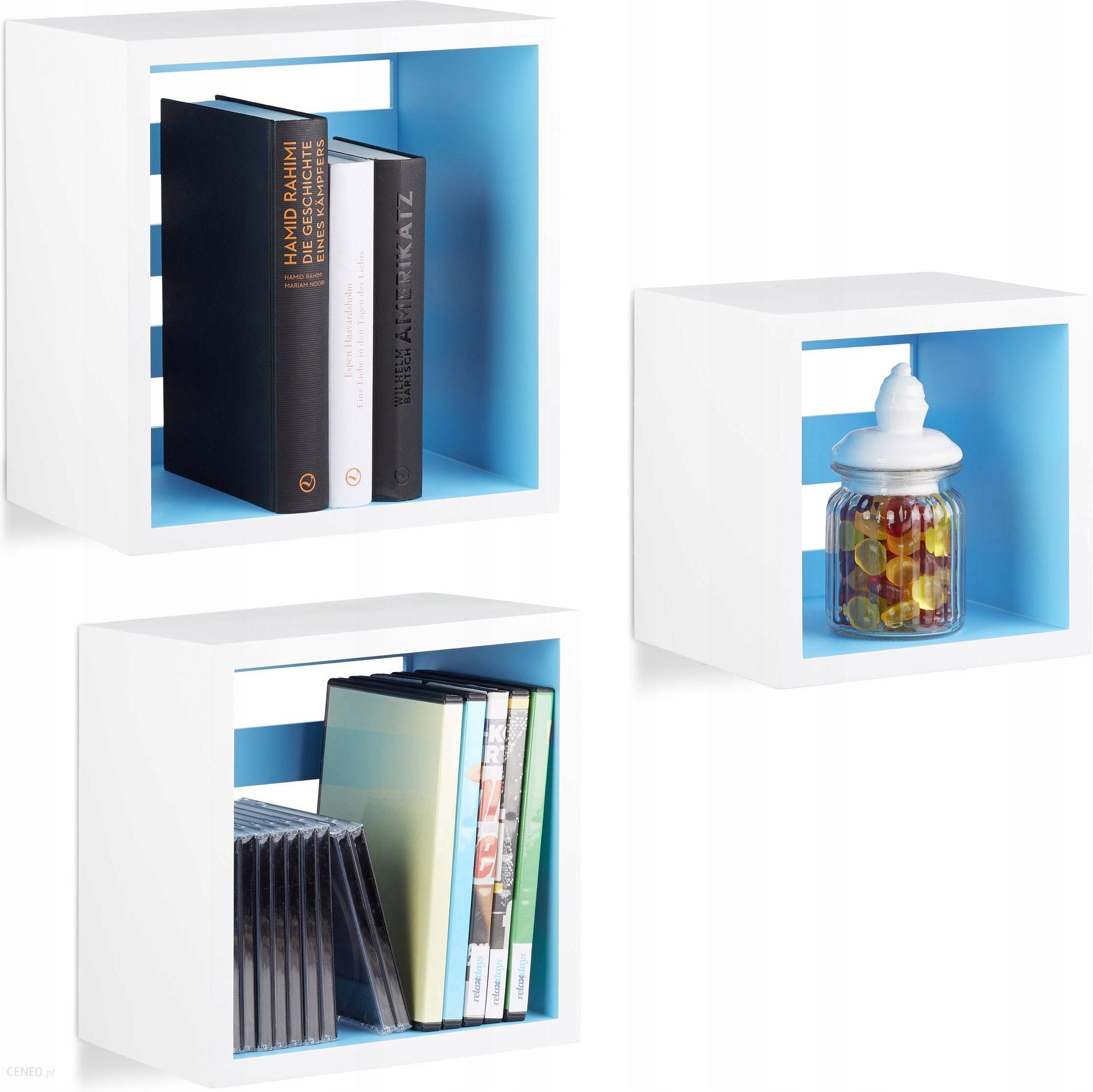 Półka Wisząca ścienna Cube Kubik Kwadratowa 3 Szt Opinie I Atrakcyjne Ceny Na Ceneopl