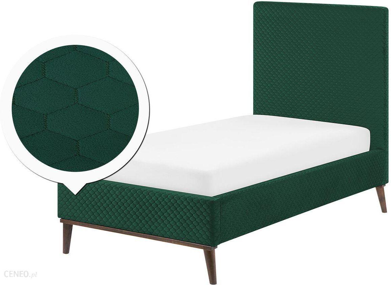 Beliani łóżko Ciemnozielone Bayonne 90x200cm Opinie I Atrakcyjne Ceny Na Ceneopl