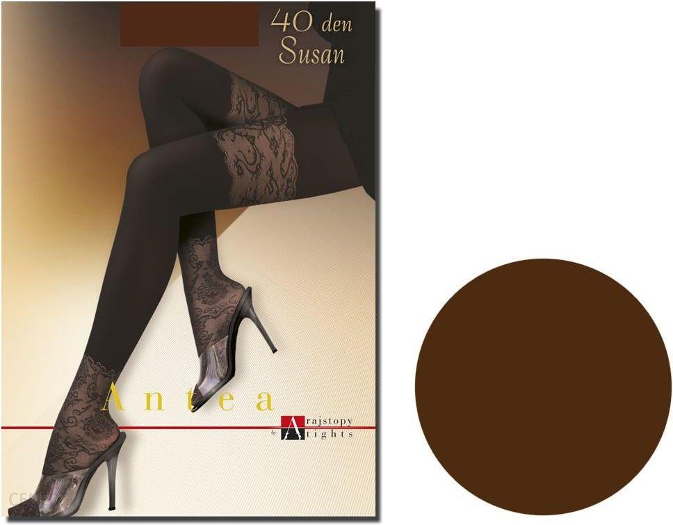 ad02675ad50417 Rajstopy 40 den Susan Adrian koronka na stopach Chocolate 2 - Ceny i ...