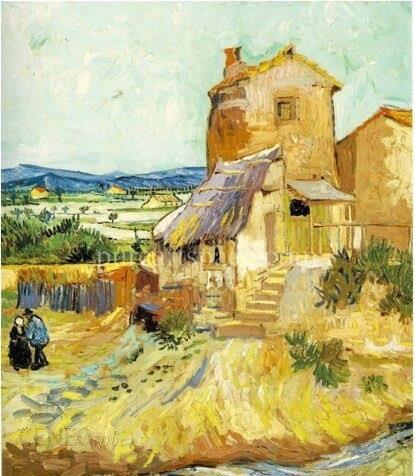 Aliexpress Stary Młyn Słynnych Obrazów Vincent Van Gogh Obraz Olejny Reprodukcji W Bimago Impresjonizm Na Płótnie Oprawi Ceneopl