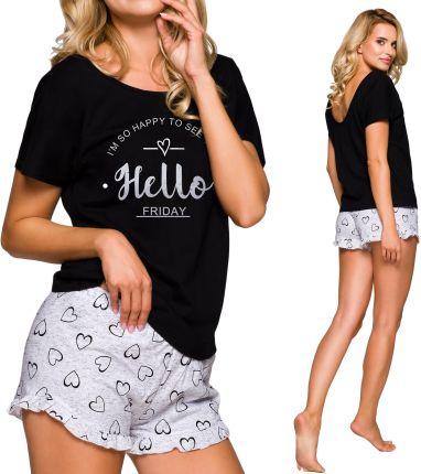 319bc0c562633b 2279 02 WIlly Taro piżama damska krótka bawełniana