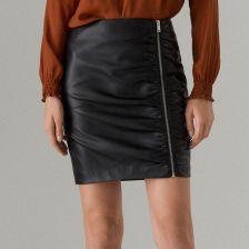 150d3afe74d9a7 Mohito - Ołówkowa spódnica ze skóry ekologicznej - Czarny