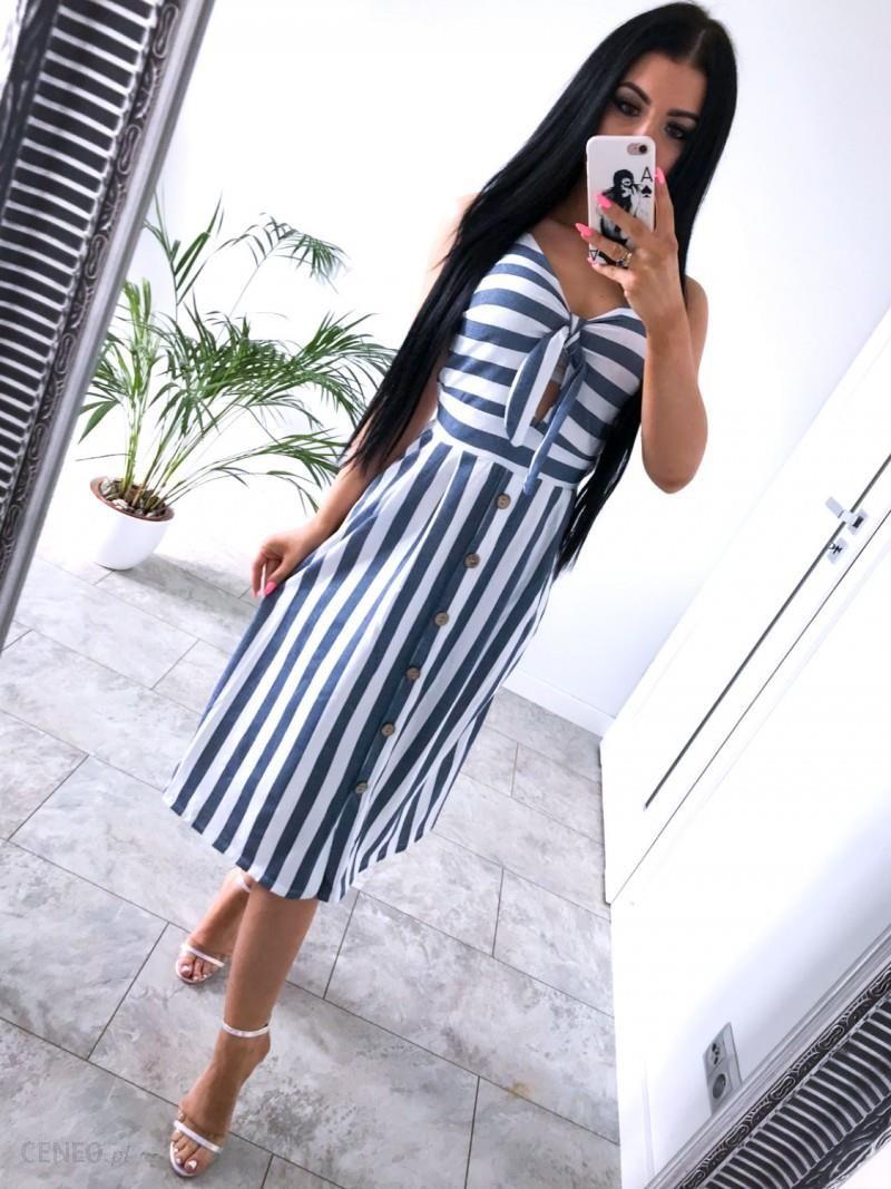 a84d0a04e2171e Maxi sukienka w paski na ramiączkach IDALIA - Ceny i opinie - Ceneo.pl