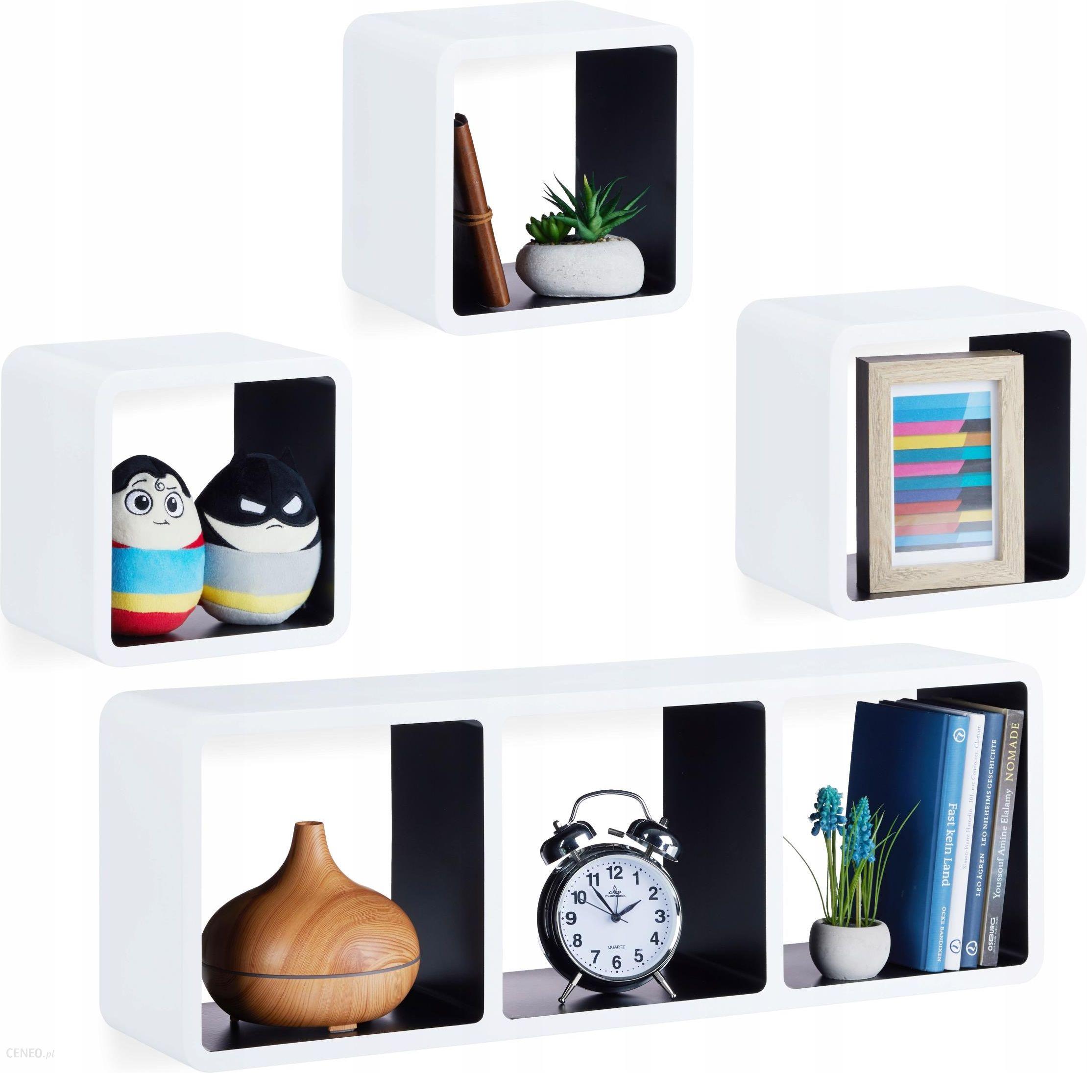 4 Półki Na ścianę ścienne Wiszące Samowiszące Cube Opinie I Atrakcyjne Ceny Na Ceneopl