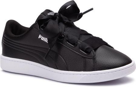Sneakersy PUMA Vikky Ribbon L Satin Jr 369542 04 Puma BlackPuma SilverWhite