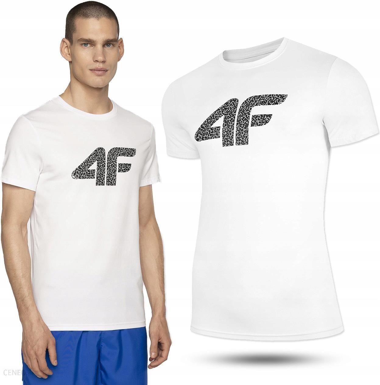 Koszulka Męska 4F TSM020 t shirt biały bawełniana Ceny i opinie Ceneo.pl