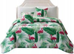 bb94ef9ede0097 Zielona Narzuta Pikowana 240x26 Flamingi Allegro