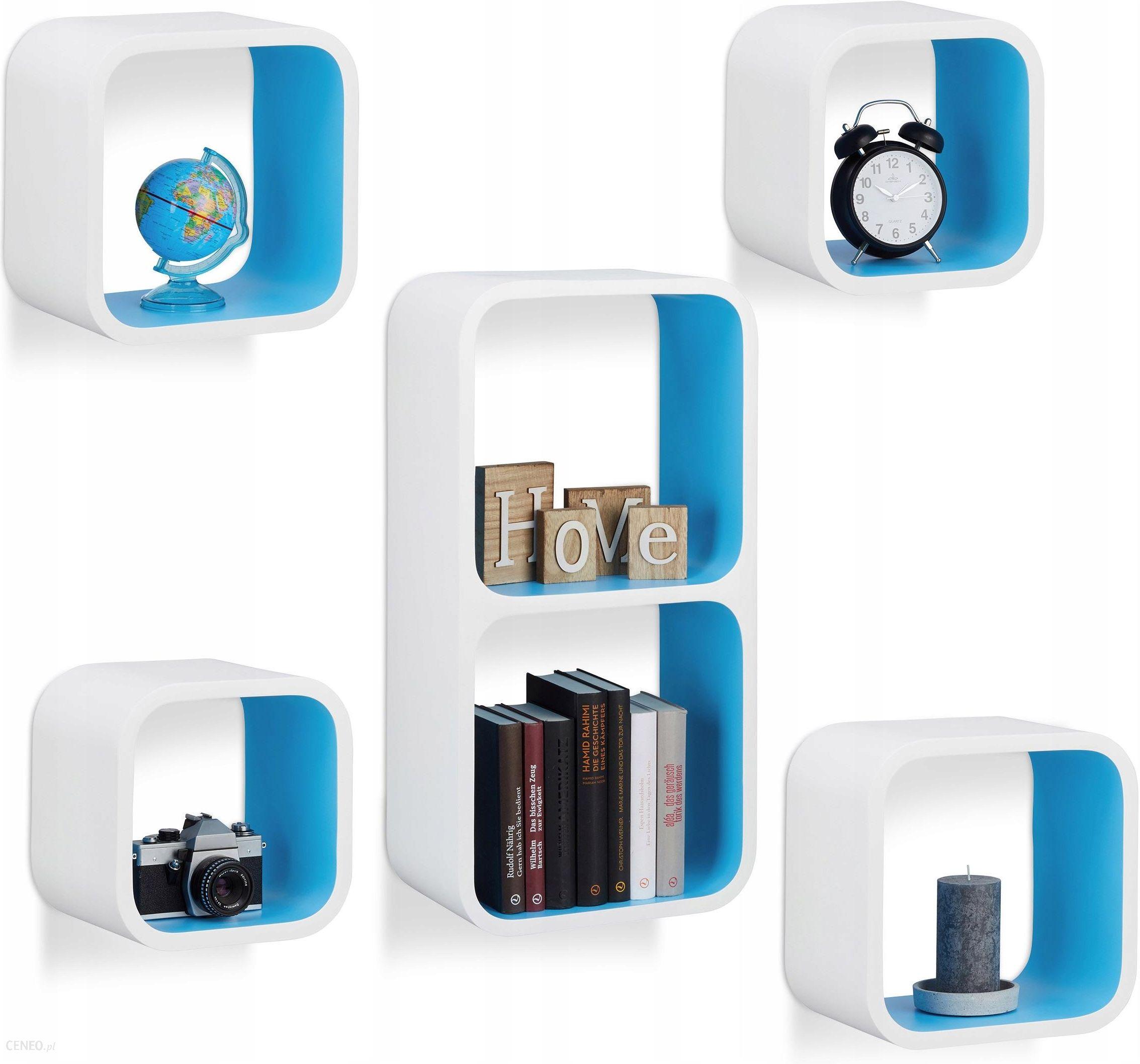 Półki ścienne Wiszące Cube 5 Sztuk Na Cd Książki Opinie I Atrakcyjne Ceny Na Ceneopl