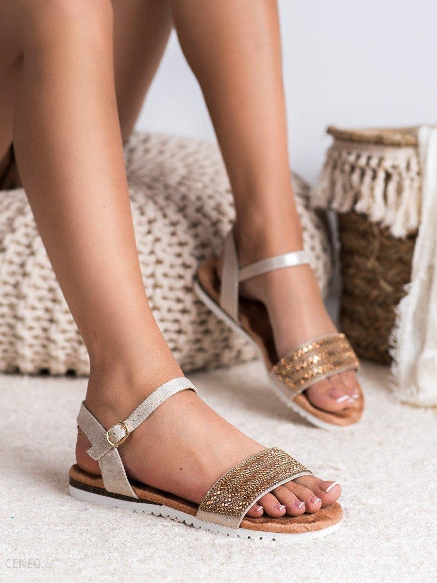 sandały z cyrkoniami adidas