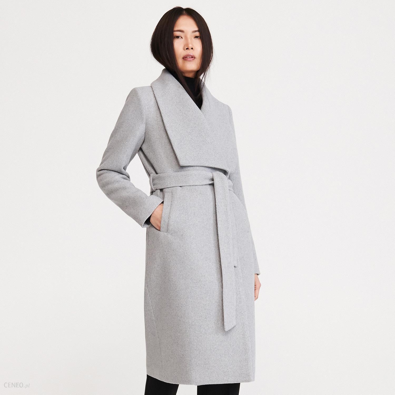 Płaszcz z wełną Szary