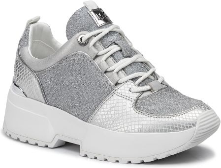 Sneakersy MICHAEL MICHAEL KORS - Cosmo Trainer 43T9CSFS3D Silver