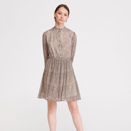 07f91d5e0cad2b Reserved - Sukienka z koronki - Kremowy - Ceny i opinie - Ceneo.pl