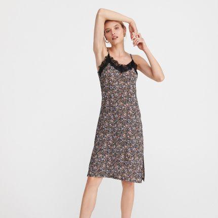 5add523180f5d6 Reserved - Ażurowa sukienka - Czarny - Ceny i opinie - Ceneo.pl