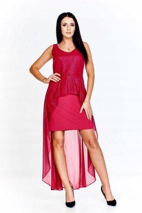 ecd027b70b3ce1 Wieczorowa sukienka z długim tyłem wykonanym z del Allegro