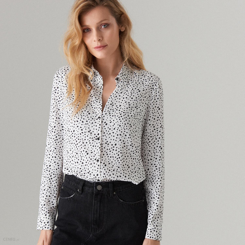 Mohito Klasyczna koszula we wzory Biały Ceny i opinie  JXA72
