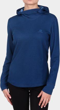 Damska bluza Salomon Comet Full Zip Hoodie poseidon