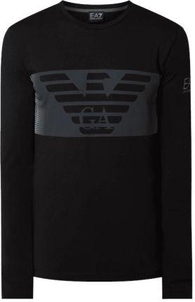 c20e4b57ba1137 EA7 Emporio Armani Bluzka z długim rękawem z mieszanki bawełny i elastanu  ...