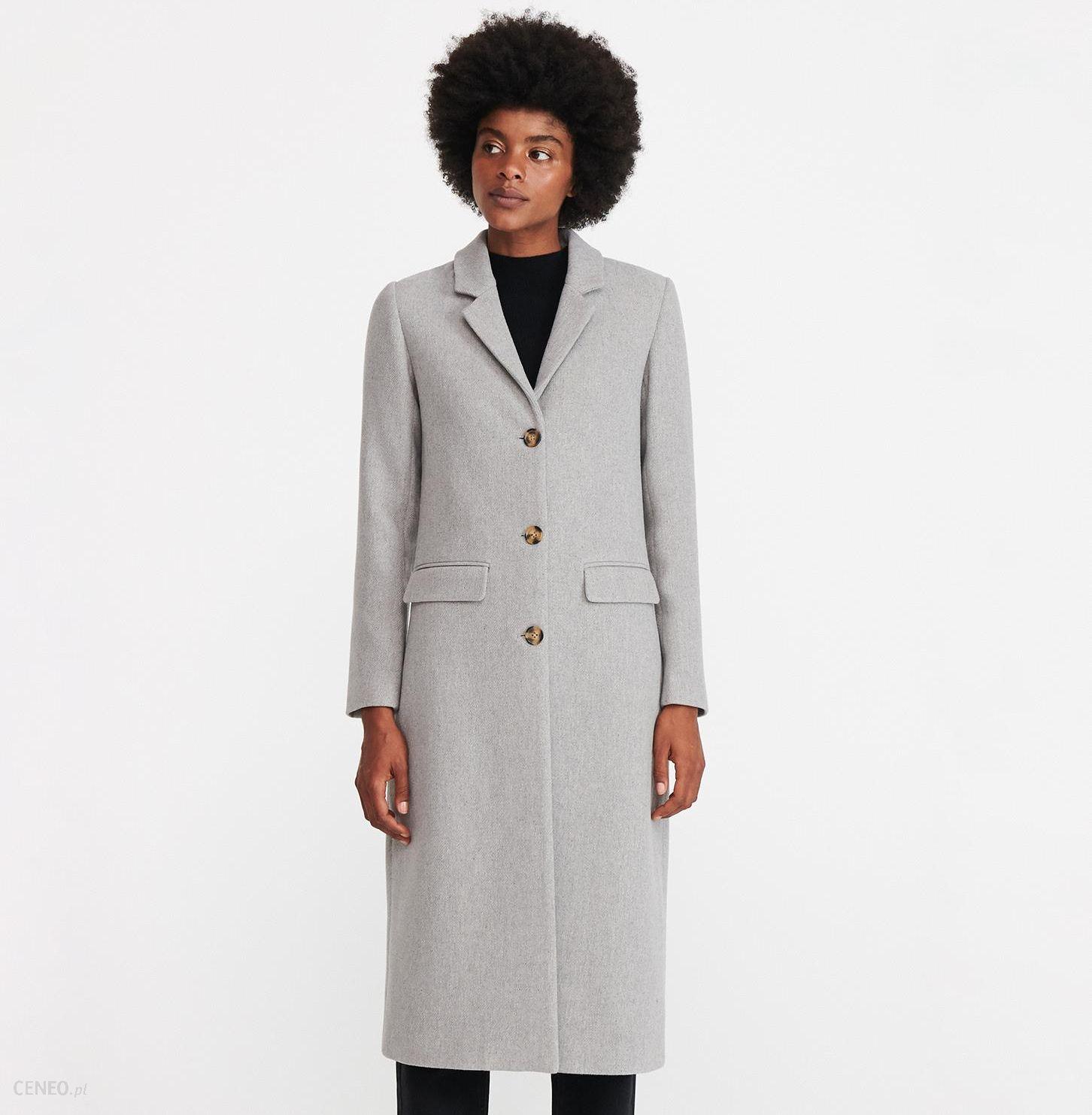 Reserved Płaszcz o męskim kroju Beżowy Ceny i opinie