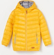 698b5741c668c2 Reserved - Pikowana kurtka z kapturem - Żółty ...