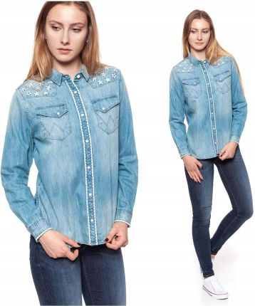 11fa59a4f6260d Wrangler Western Shirt Damska Koszula Jeansowa S - Ceny i opinie ...