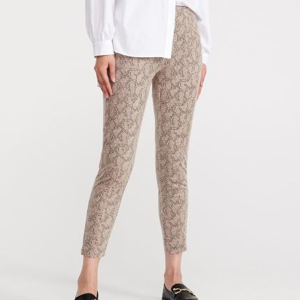 Cropp Spodnie skinny Beżowy damska Ceny i opinie