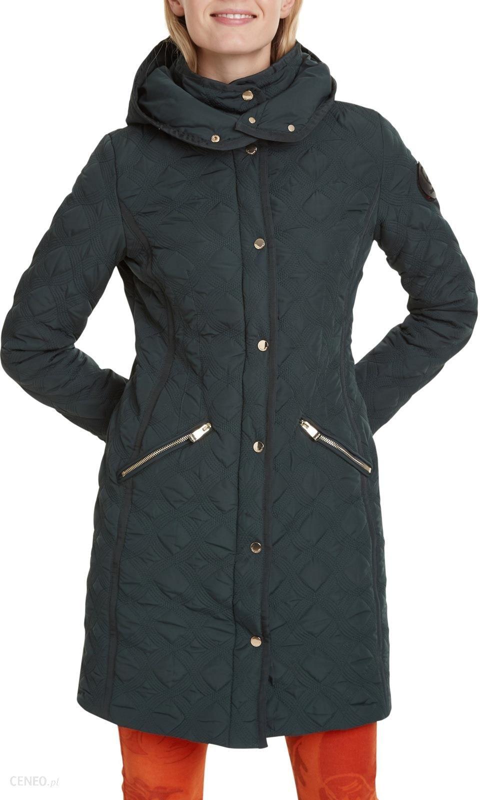 Desigual butelkowo zielony płaszcz Padded Leicester