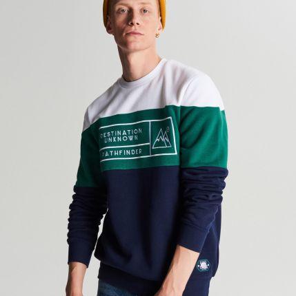 na wyprzedaży nowe niższe ceny przystojny Bluza z nadrukiem 89 - Cropp - Granatowy - męska - Ceny i ...