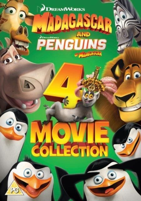 Madagascar and Penguins of Madagascar: 4-movie Collection