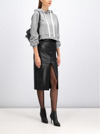 Adidas Originals CROPPED HOODIE Bluza z kapturem ash green