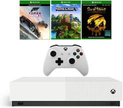 Xbox One S 1TB All-Digital Edition + Forza Horizon 4 + Minecraft + Sea of Thieves