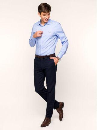 Beżowa koszula męska z długim rękawem (dx1331) Beżowy  mVc89