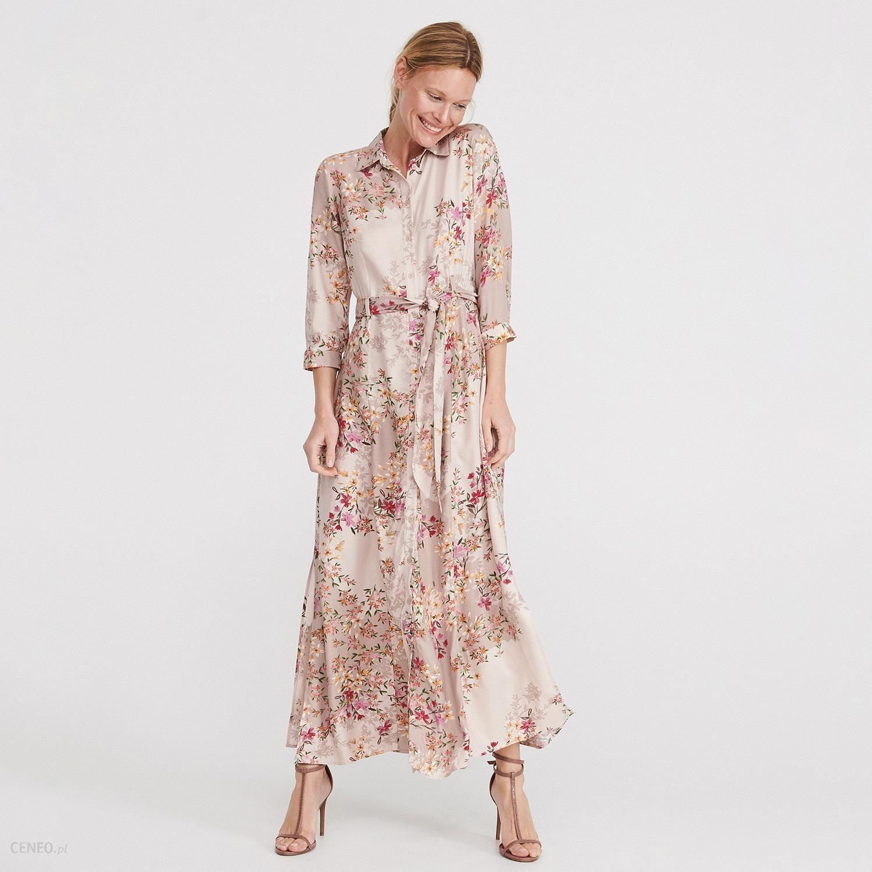 0039d192 Reserved - Długa sukienka w kwiaty - Wielobarwny - Ceny i opinie - Ceneo.pl