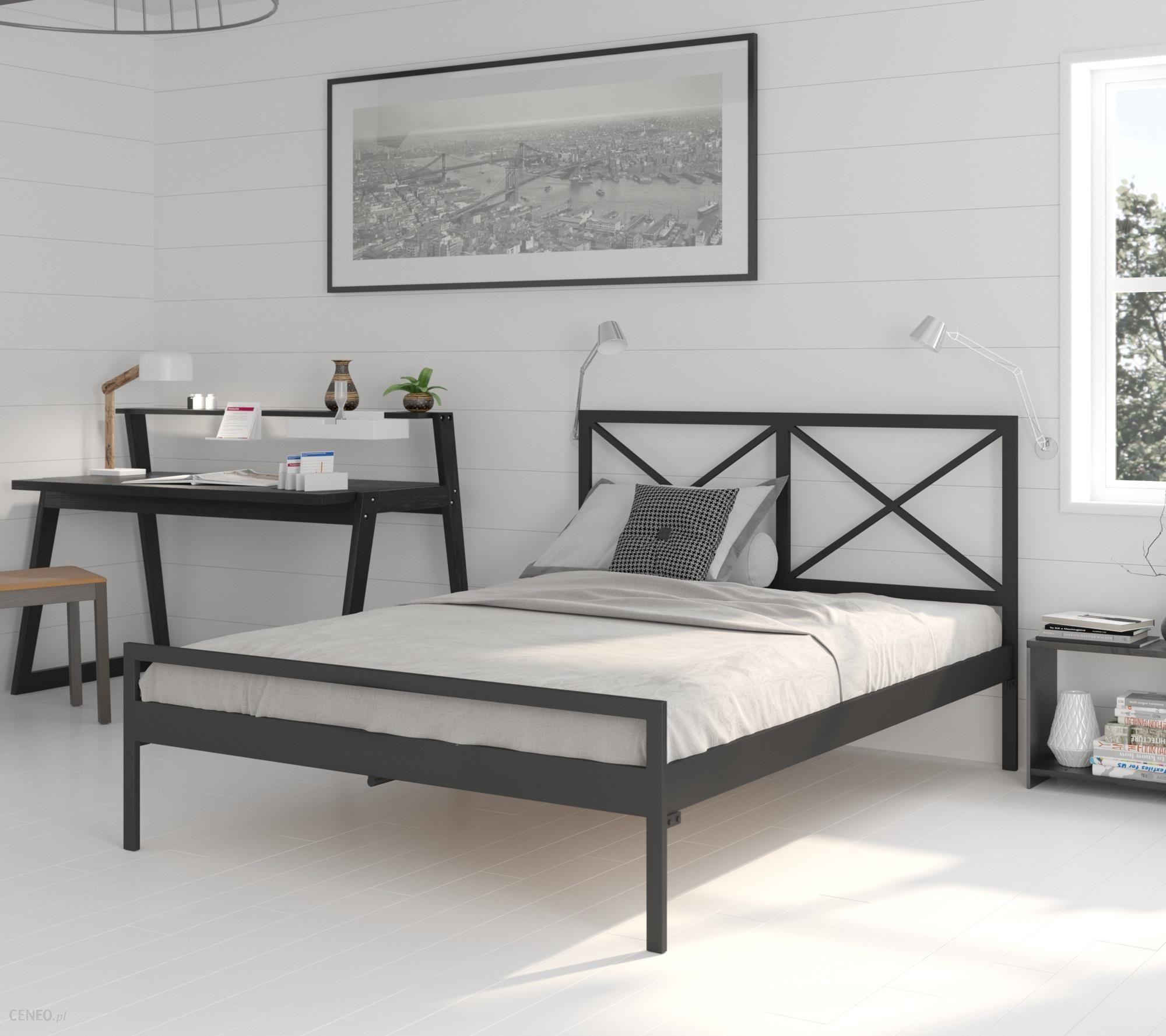 Lak System łóżko Metalowe 120x200 Wzór 38 Stelaż