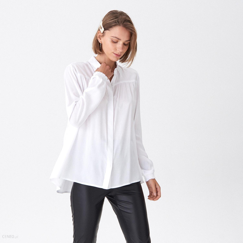 House Koszula z ozdobnym marszczeniem Biały Ceny i