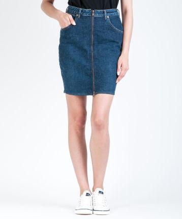 Spódnica mini jeansowa z lampasami Sublevel Ceny i opinie