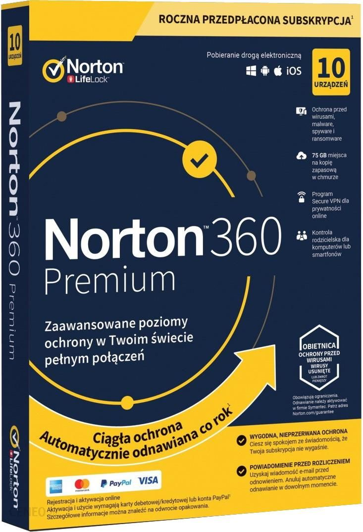 Norton 360 Premium 10Pc / 1Rok 2019