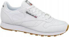 Reebok Classic Leather CL Lthr 49799 Białe Skóra Ceny i