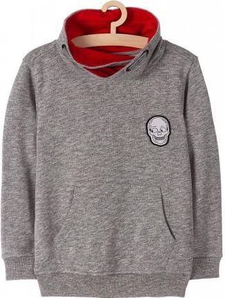 Rozpinana bluza z kapturem dla chłopca, dwukolorowa, 9 13