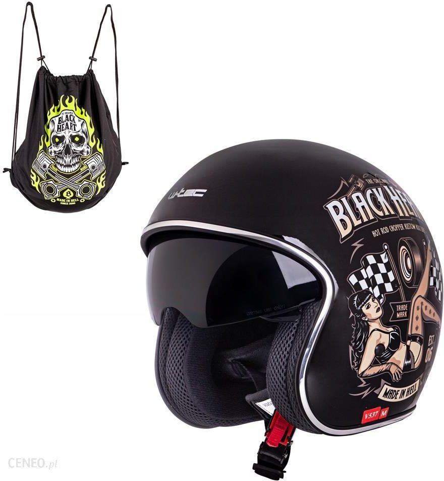 Kask motocyklowy otwarty z blendą W-tec V537 Black