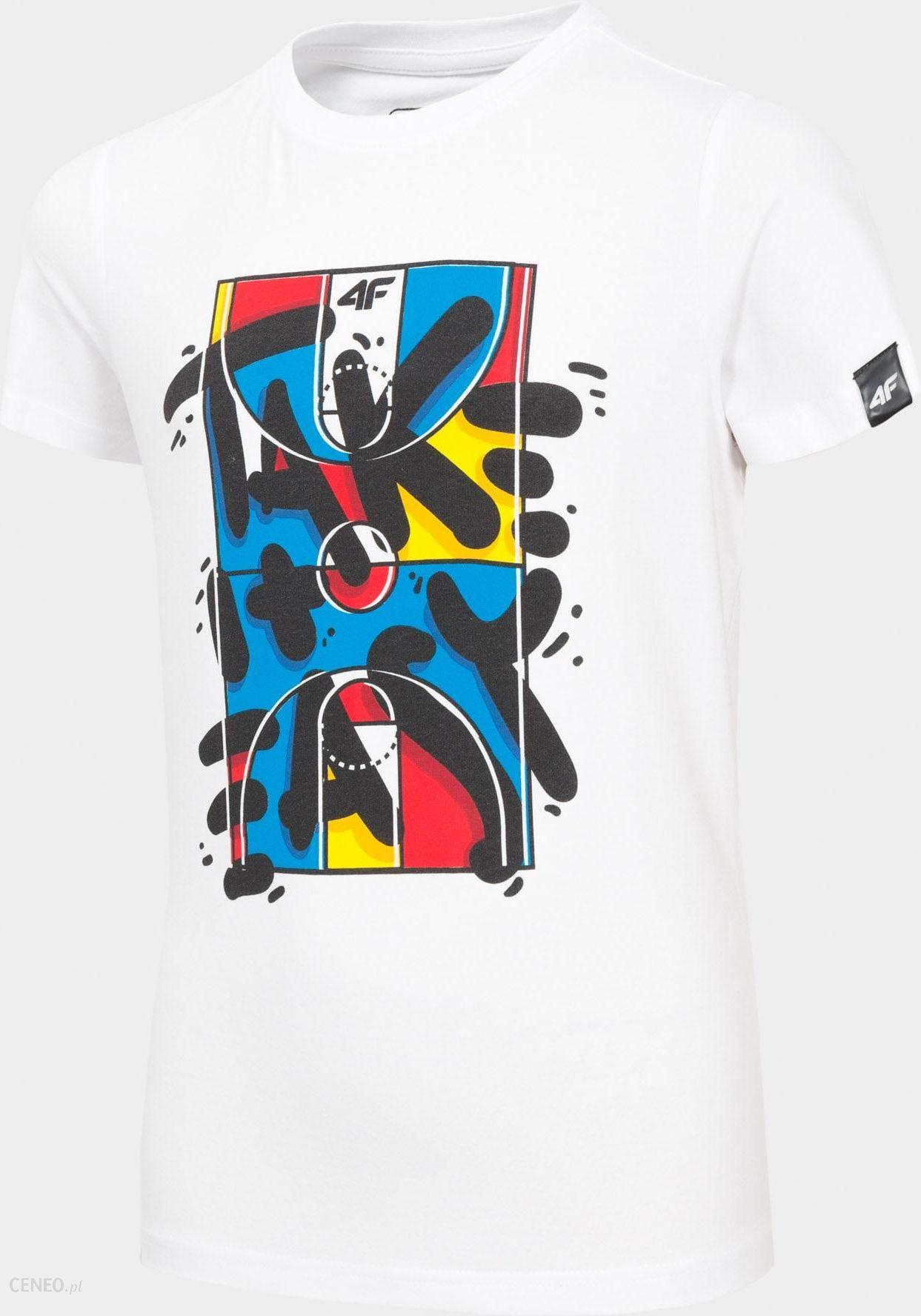 4F T Shirt Chłopięcy Jtsm204 Biały Ceny i opinie Ceneo.pl