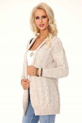 32232874 Fobya Szary Sweter Oversize z Golfem - Ceny i opinie - Ceneo.pl