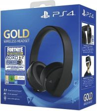 Sony PS4 Gold Wireless Headset + Fortnite content (PS4)