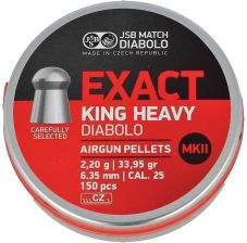 Jsb Match Diabolo Śrut Exact King Heavy Ii 6,35Mm 150Szt